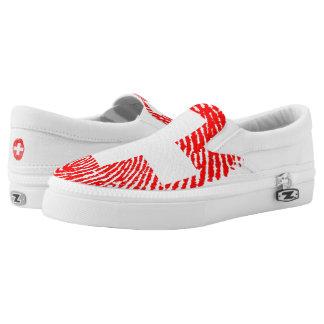 Swiss touch fingerprint flag slip on shoes
