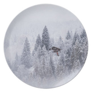 Swiss Winter Melamine Plate
