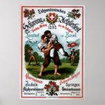 Swiss Wrestling Alpine Festival ~R. Schweizer 1899 Poster