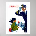 Swissair Little Girl Poster