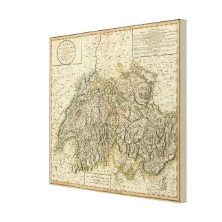 Swisserland  -Switzerland Atlas Map Canvas Print