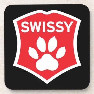 SWISSY coasters. Set of 6. Coaster