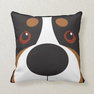 Swissy-Face Throw Pillow