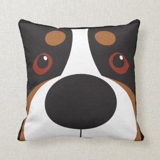 Swissy-Face Throw Pillow Throw Cushion