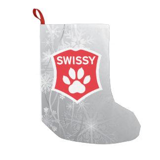 Swissy on Snow Christmas Stocking