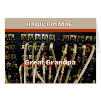 Switchboard Happy Birthday Great Grandpa Greeting Card
