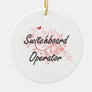 Switchboard Operator Artistic Job Design with Butt Round Ceramic Decoration