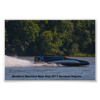Switzer Wing Vintage Race Boat Photo Print