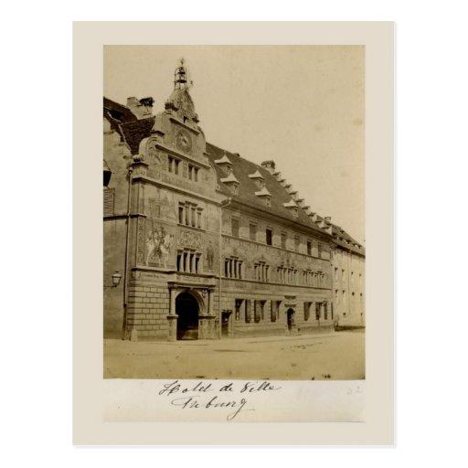Switzerland 1908, Feiburg, Hotel de Ville Post Card