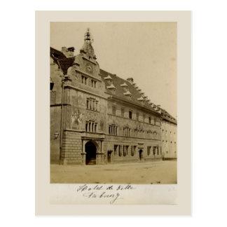 Switzerland 1908, Freiburg, Hotel de Ville Postcard