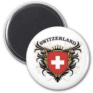Switzerland 6 Cm Round Magnet