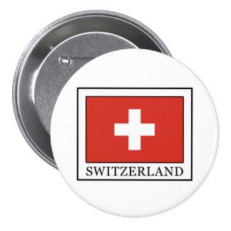 Switzerland 7.5 Cm Round Badge