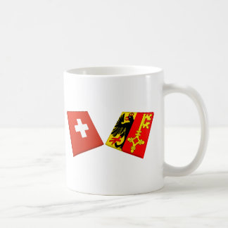 Switzerland and Geneva Flags Mug