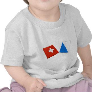 Switzerland and Zurich Flags Tees