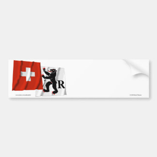 Switzerland & Appenzell-Ausserrhoden Waving Flags Bumper Sticker