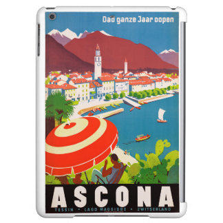 Switzerland Ascona Vintage Travel Poster Restored