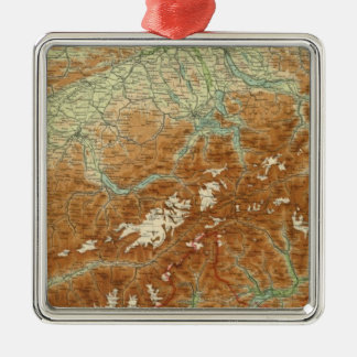 Switzerland Atlas Map Christmas Ornament