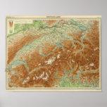 Switzerland Atlas Map Poster