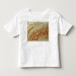 Switzerland Atlas Map Toddler T-Shirt