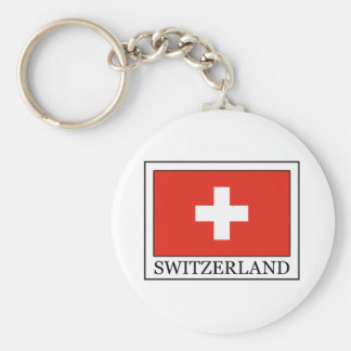 Switzerland Basic Round Button Key Ring