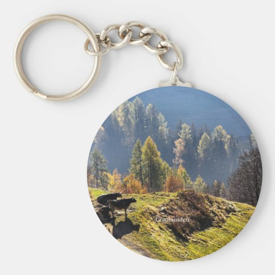 Switzerland: Beautiful Graubunden Key Ring