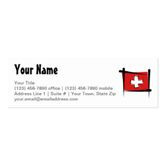 Switzerland Brush Flag Double-Sided Mini Business Cards (Pack Of 20)