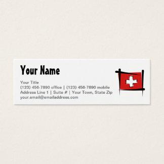 Switzerland Brush Flag Mini Business Card