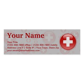 Switzerland Bubble Flag Business Cards