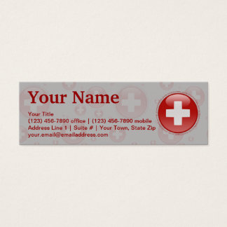 Switzerland Bubble Flag Mini Business Card