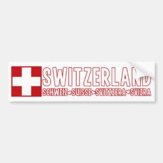 SWITZERLAND bumpersticker Bumper Sticker