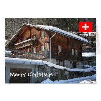 Switzerland, Chalet in the village Card