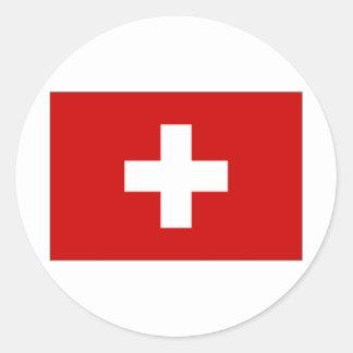 Switzerland Civil Ensign Classic Round Sticker
