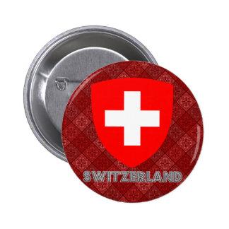 Switzerland Coat of Arms 6 Cm Round Badge