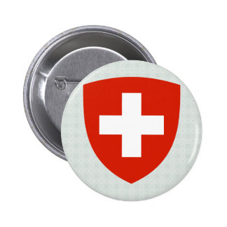 Switzerland Coat of Arms detail 6 Cm Round Badge