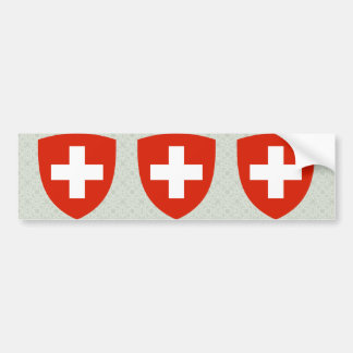 Switzerland Coat of Arms detail Bumper Sticker