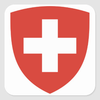 Switzerland Coat of Arms Square Sticker