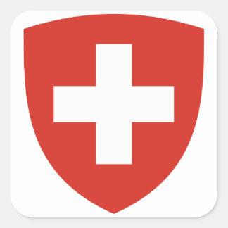 Switzerland Coat of Arms Square Sticker