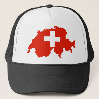 switzerland country flag map swiss symbol trucker hat