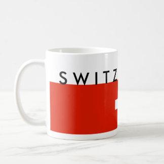 Switzerland country flag swiss nation symbol coffee mug