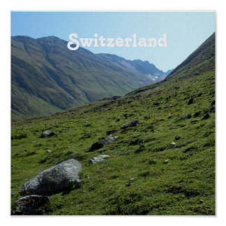 Switzerland Countryside Poster