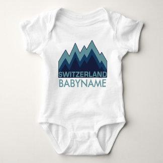 SWITZERLAND custom clothing Baby Bodysuit