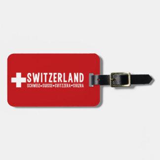 SWITZERLAND custom luggage tag