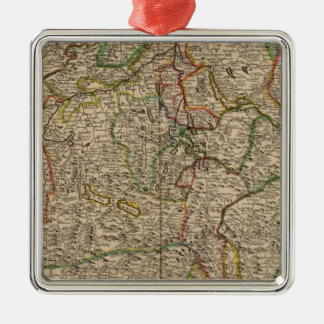 Switzerland engraved map christmas ornament