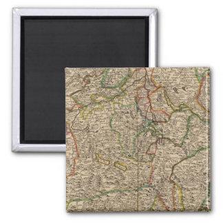 Switzerland engraved map magnet