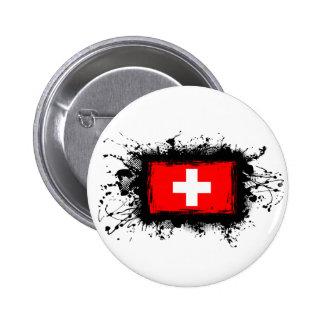 Switzerland Flag 6 Cm Round Badge