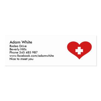 Switzerland flag business card templates