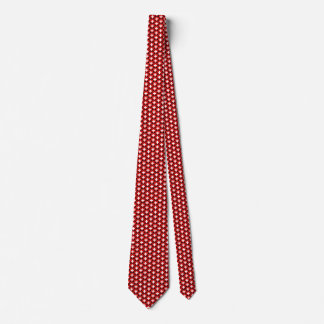 Switzerland Flag Hearts Tie