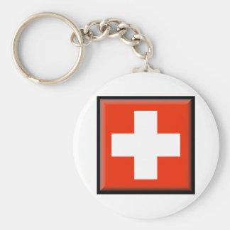 Switzerland Flag Key Ring