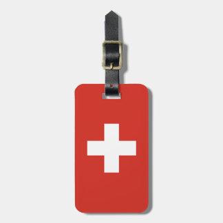 Switzerland Flag Luggage Tag