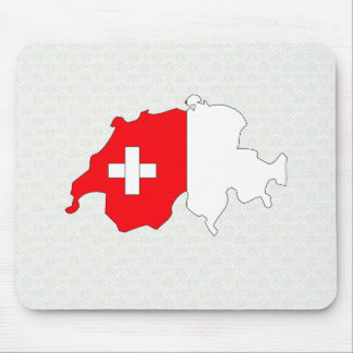 Switzerland Flag Map full size Mouse Mat